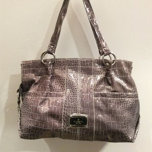 Rosetti Purse Faux Alligator Gray